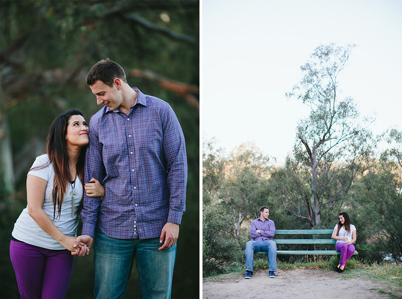 genuine engagement photography with a difference, couple sharing a glance