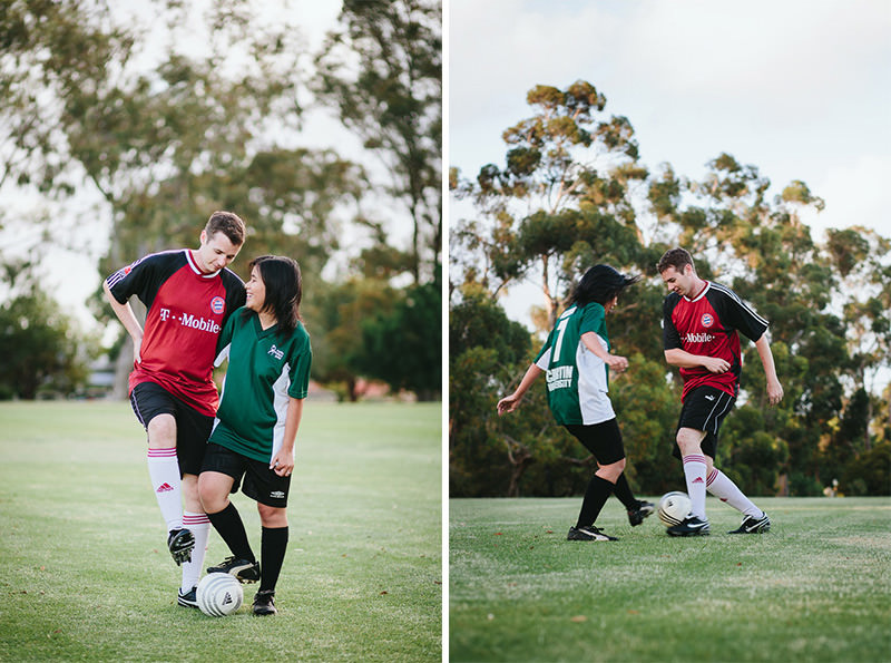 soccer themed engagement shoot adventure