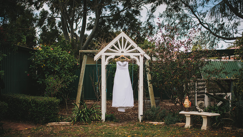 perth wedding dress garden