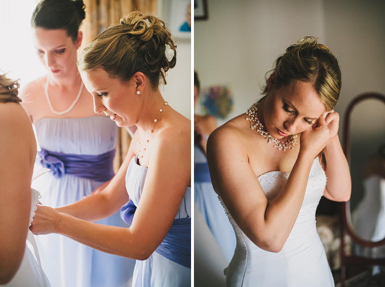 Perth wedding dress, earrings, getting ready