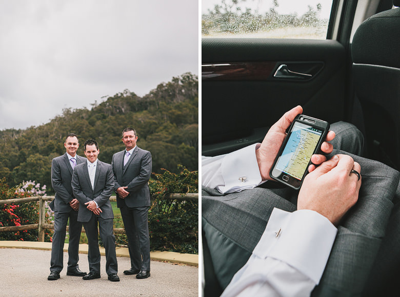 Perth hills groomsmen, smartphone weather