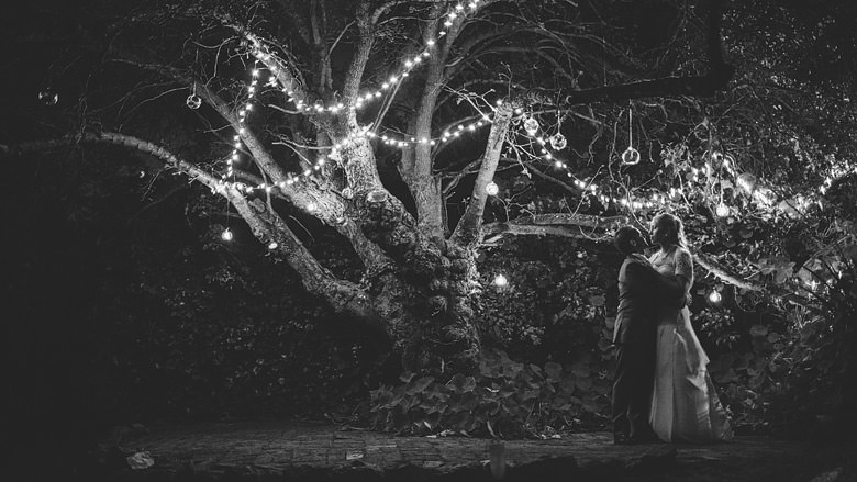Perth hills wedding decorations, night photography
