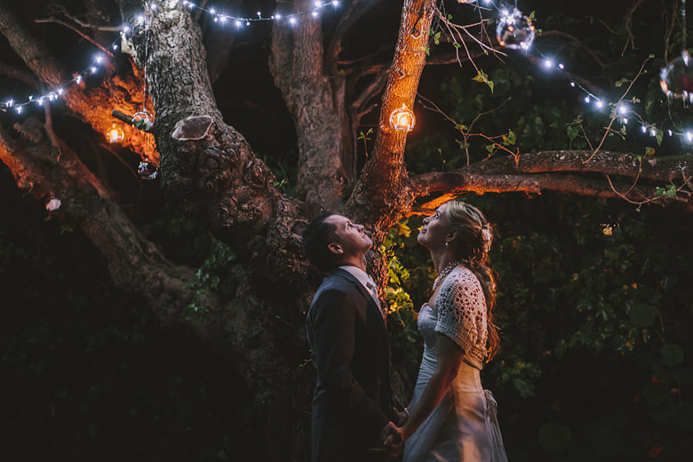 beautiful Perth hills wedding portraits, night photos