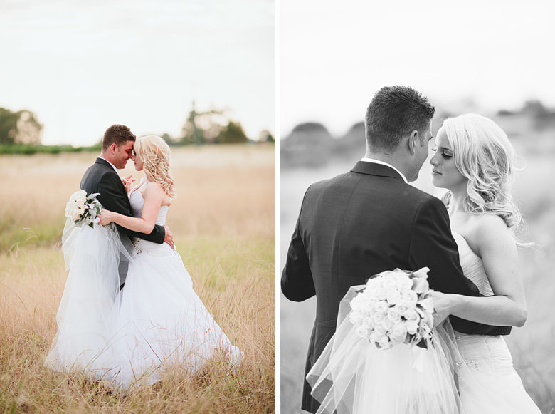candid fine art portraits of bride and groom in wheat field