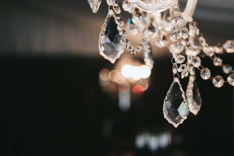 detail shot of chandelier at caversham house marquee in perth