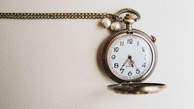 Antiques pocket watch ladybug wedding