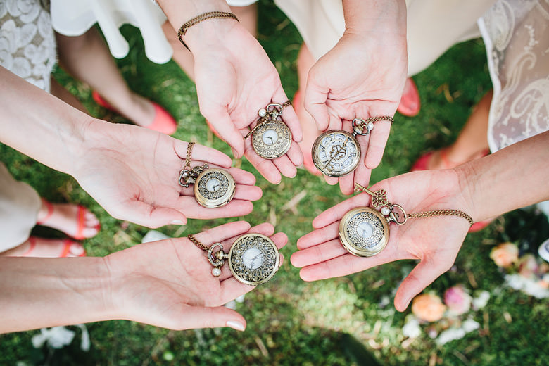 Unique pocket watches, bride gift