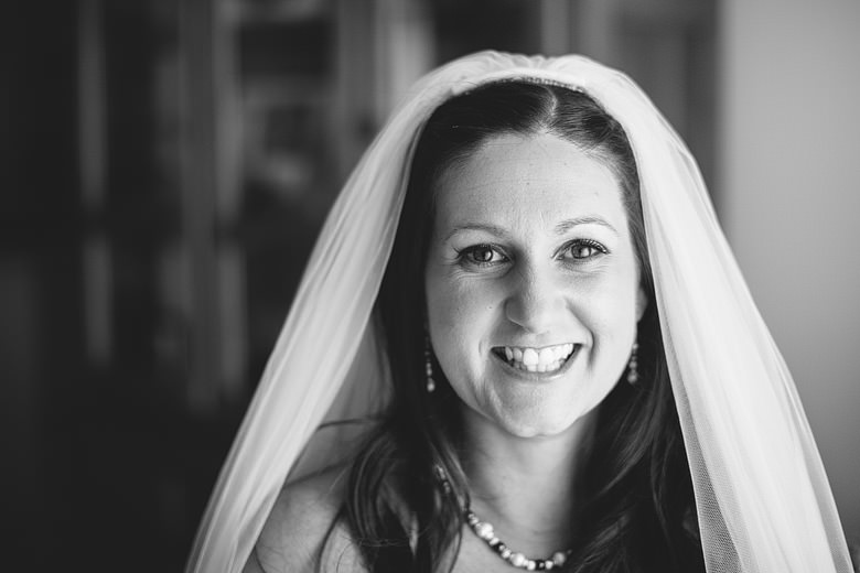 genuine expression portrait of bride
