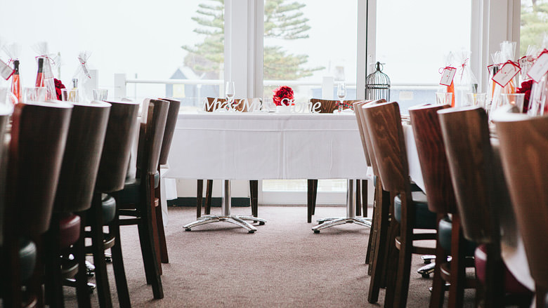 bridal table in the goose restaurant busselton