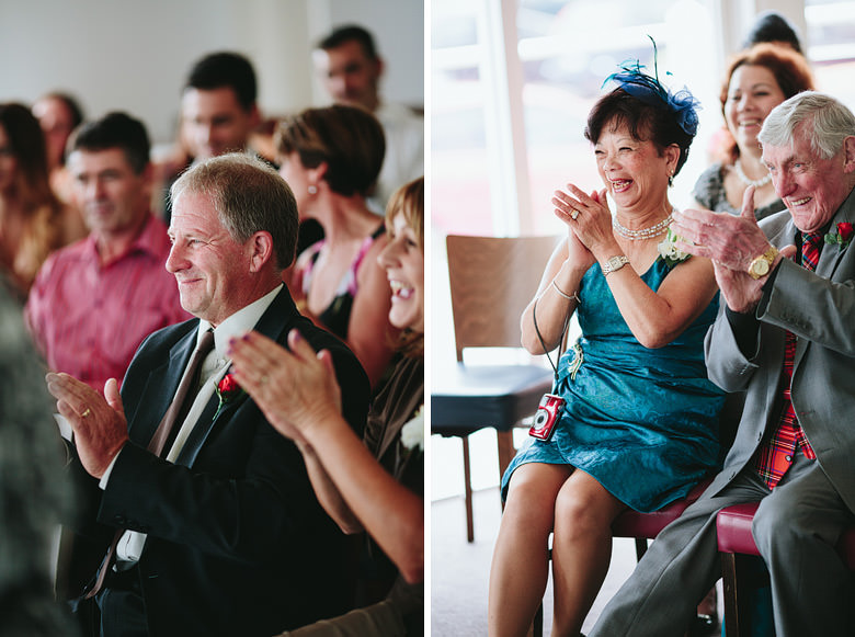 genuine parents reactions during candid wedding in busselton western australia