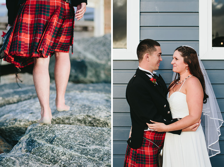 photo of couple during scottish wedding in busselton