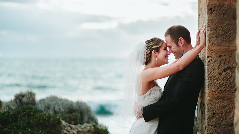 bride and groom cottesloe beach wedding photography