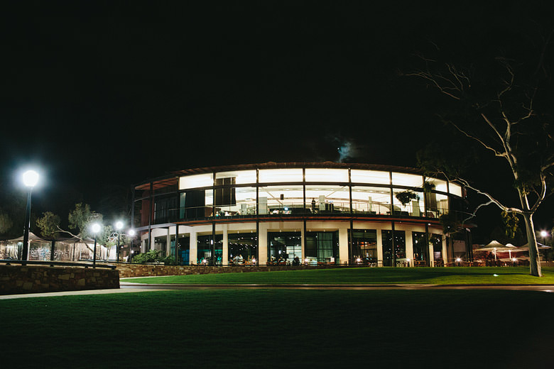 Night view of Fraser's Restaurant Kings Park