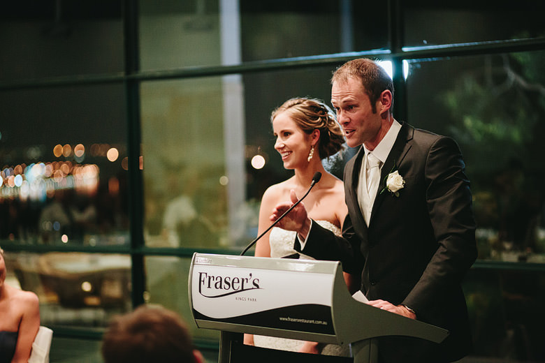 candid groom speech at fraser's restaurant kings park perth western australia