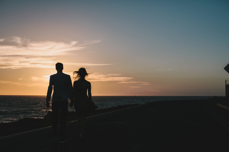 Creative sunset engagement photography fremantle